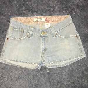 Levi's Slouch 504 jean shorts